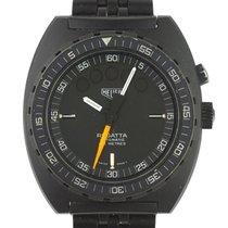 Lemania 42mm Automatic pre-owned Black