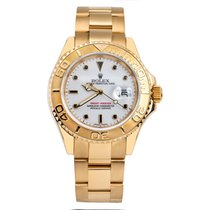 Rolex Yacht-Master pre-owned 40mm White Date Yellow gold