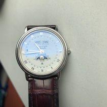 Blancpain Villeret gebraucht 34mm Weiß Mondphase Datum Monatsanzeige Leder