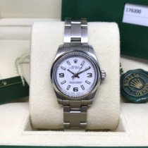 Rolex Oyster Perpetual 26 Acero 26mm Blanco Árabes