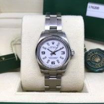 Rolex Oyster Perpetual 26 Stahl 26mm Weiß Arabisch