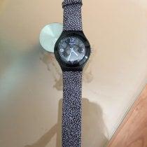 Swatch gebraucht Quarz 35mm Schwarz Kunststoff 3 ATM