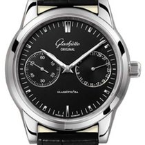 Glashütte Original Senator Hand Date Steel 40mm Black No numerals