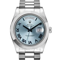 Rolex Day-Date II Platinum 41mm Blue Roman numerals United Kingdom, London