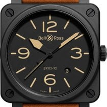 Bell & Ross BR 03-92 Ceramic new Automatic Watch with original box BR-03-92-HERITAGE-CERAMIC