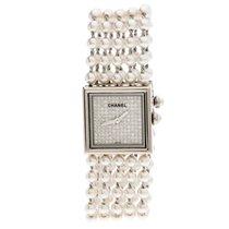 Chanel White gold Quartz pre-owned Mademoiselle