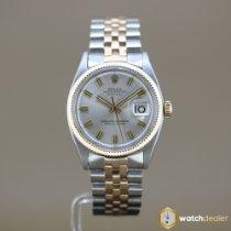 Rolex Or rose Remontage automatique Argent Sans chiffres 36mm occasion Datejust