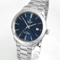 Tudor Style Steel 38mm Blue