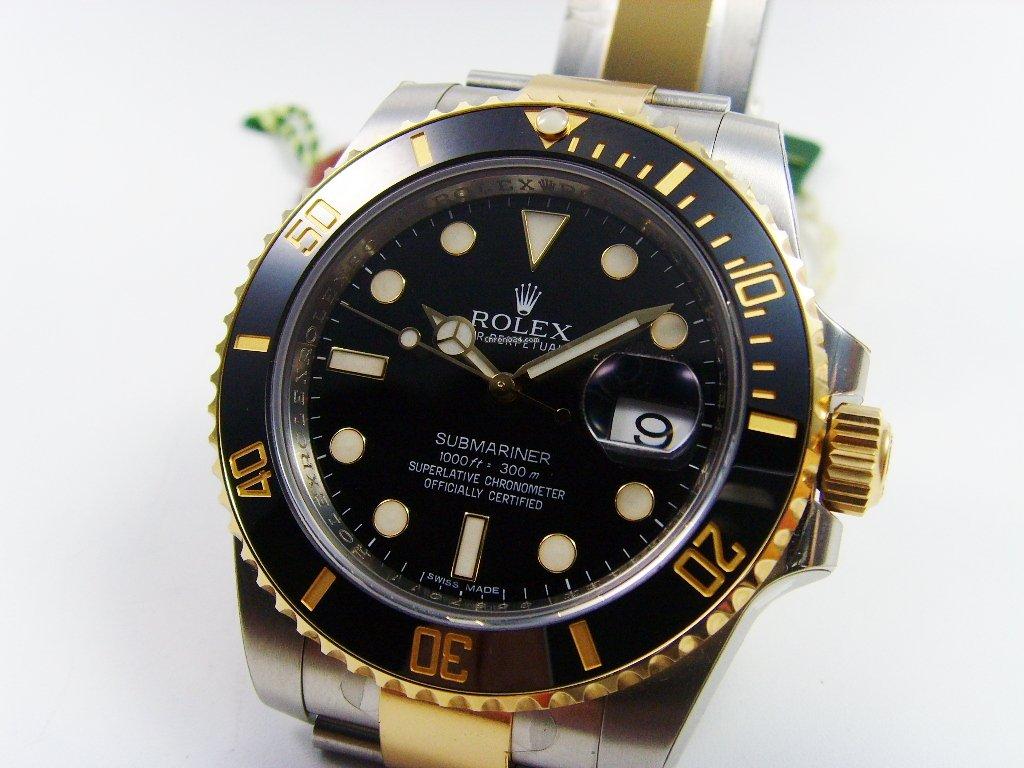 rolex submariner date stahl gold zb schwarz verkauft auf chrono24. Black Bedroom Furniture Sets. Home Design Ideas