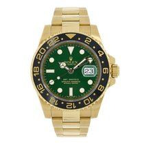 Rolex GMT-MASTER II 18K Yellow Gold Green Dial Black Ceramic