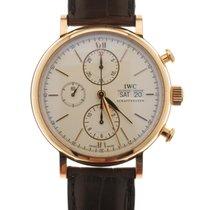 IWC Portofino Chronograph Rose gold 42mm White No numerals