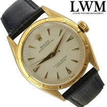 Rolex Oyster Perpetual 6085 Bubbleback Honeycomb dial yellow gold