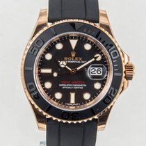 Rolex Rose gold Automatic Black No numerals 40mm new Yacht-Master 40