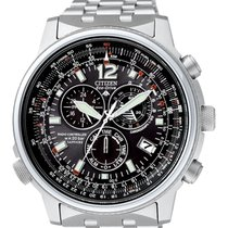 Citizen Promaster Sky AS4020-52E CITIZEN CRONO PILOT ACCIAIO Radiocontrollato 45 2020 new