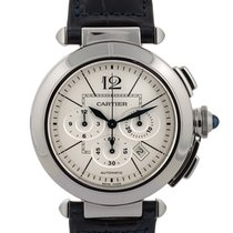 Cartier Pasha Chronograph 42mm In Acciaio Ref. W3108555