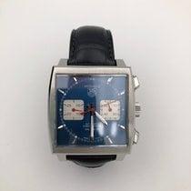 TAG Heuer Chronograph 39mm Automatik 2018 gebraucht Monaco Calibre 12 Blau