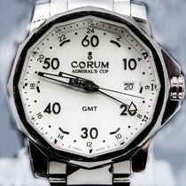 Corum 44mm Automatic pre-owned Admiral's Cup GMT 44 White