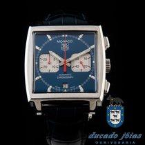 TAG Heuer Chronograf 38mm Automatika použité Monaco (Submodel) Modrá
