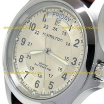 Hamilton KHAKI FIELD KING AUTO Steel Case Brown Leather Strap...