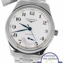 Longines Master Collection pre-owned 40mm Champagne Date Steel