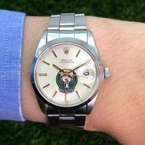 Rolex 34mm Automatik 1977 gebraucht Oyster Perpetual Date Champagnerfarben