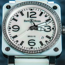 Bell & Ross Ceramic 42mm Automatic BR-03-92-WH-CE-DIAMOND pre-owned