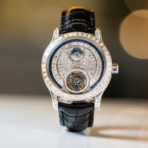 Jaeger-LeCoultre Master Tourbillon White gold 43mm Silver No numerals