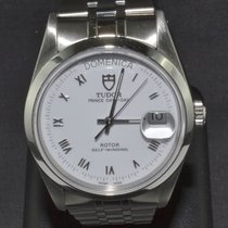 Tudor Prince Date Steel 36mm White