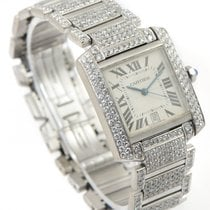 Cartier Tank Française pre-owned 28mm Month White gold