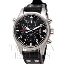 IWC Pilot Double Chronograph Steel 46mm Black United States of America, New York, Hartsdale