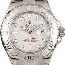 Rolex Platinum Automatic Silver No numerals 40mm new Yacht-Master 40
