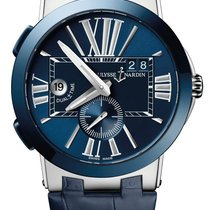 Ulysse Nardin Executive Dual Time Steel 43mm Blue