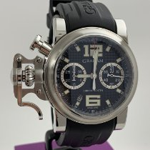 Graham Chronofighter R.A.C. Stal 43mm Czarny Arabskie