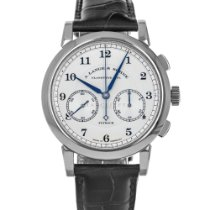 A. Lange & Söhne White gold Manual winding Silver Arabic numerals 39.5mm pre-owned 1815