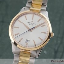 Zenith Captain Central Second Or/Acier 40mm Argent