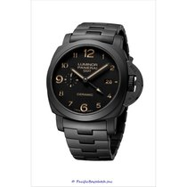 Panerai Ceramic Automatic Black Arabic numerals 44mm new Luminor 1950 3 Days GMT Automatic