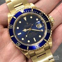 Rolex 16618 Or jaune 1991 Submariner Date 40mm occasion