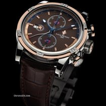 Louis Moinet Geograph Gold/Steel 45,5mm Brown