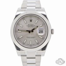 Rolex Datejust II Stainless Steel Smooth Bezel 116300 Silver...