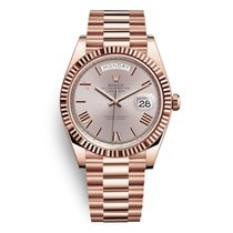 Rolex Day-Date 40 Rose gold 40mm Silver Roman numerals United Kingdom, Liverpool