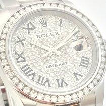 Rolex DateJust 36mm Brillant Lünette Pave Dia Dial