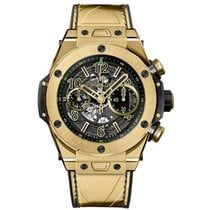 Hublot Yellow gold Automatic Transparent Arabic numerals 45mm new Big Bang Unico