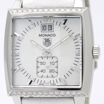 TAG Heuer Monaco Diamond Mop Dial Quartz Ladies Watch Waw1313...