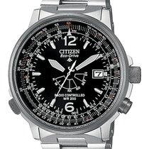 Citizen AS2020-53E CITIZEN PILOT ACCIAIO Radiocontrollato 44mm new