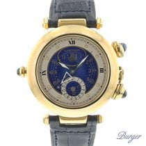 Cartier Pasha Moon Date Alarm Yellow Gold