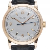 Patek Philippe 18kt Gelbgold Handaufzug Armband Leder 33mm...