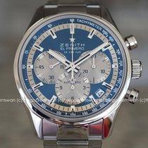 Zenith El Primero 36'000 VPH Chronograph Blue Dial Bracelet