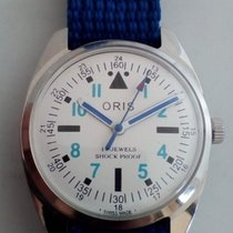 Oris 17J Shock Proof SERVICE White/Blue Manual Vintage Swiss Made