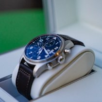 IWC Pilot Chronograph Staal 43mm Blauw Arabisch Nederland, gilze