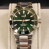 Oris Aquis Date Steel 43.5mm Green No numerals United States of America, Pennsylvania, Philadelphia